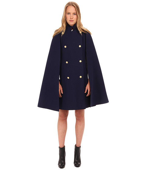 Pierre Balmain - Embellished Cape FP23080 (Blue) Women's Coat