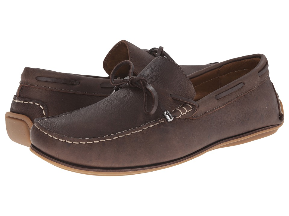 Massimo Matteo - Lace Slip-On (Brown) Men's Slip on Shoes