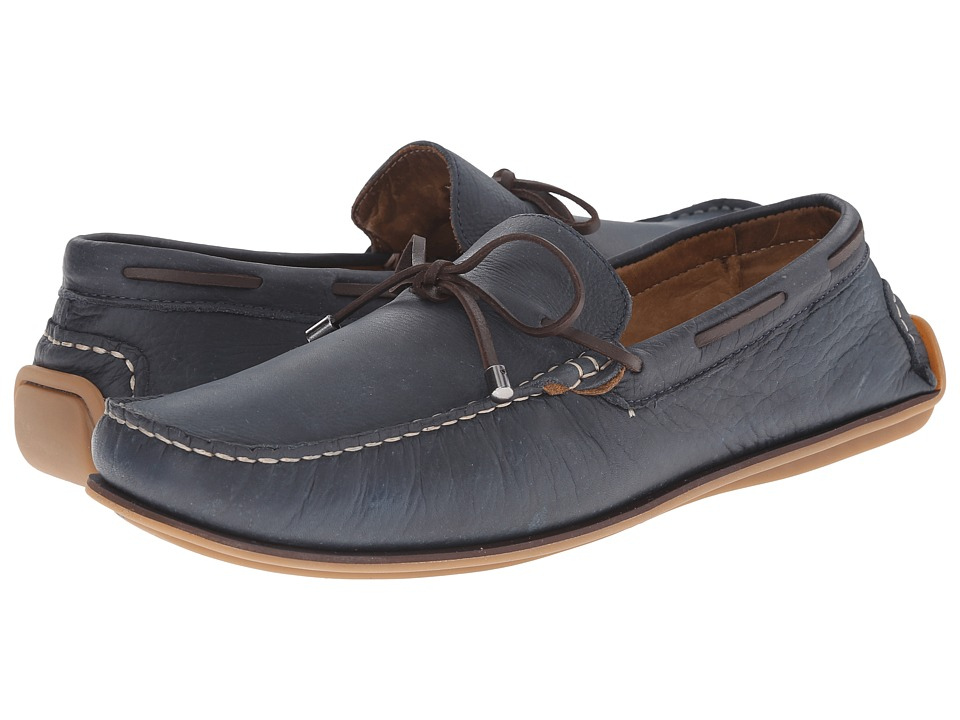 Massimo Matteo - Lace Slip-On (Blue) Men's Slip on Shoes