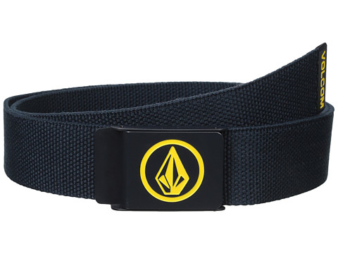 Volcom - Circle Web Belt (Navy) Men's Belts