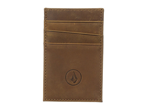 Volcom - Carded Wallet (Brown) Wallet Handbags