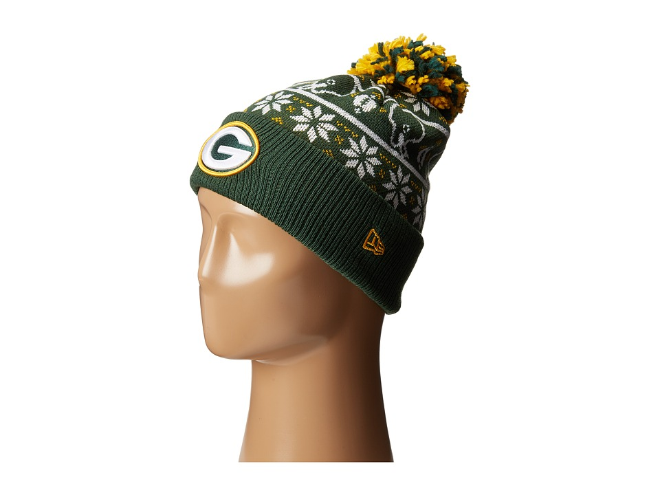 New Era - Sweater Chill Green Bay Packers (Dark Green) Caps