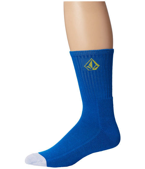 Volcom - Full Stone Sock (Bold Blue) Men's Crew Cut Socks Shoes