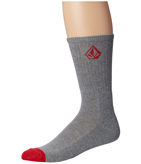 Volcom - Full Stone Heather Socks (Heather Grey) Men's Crew Cut Socks Shoes