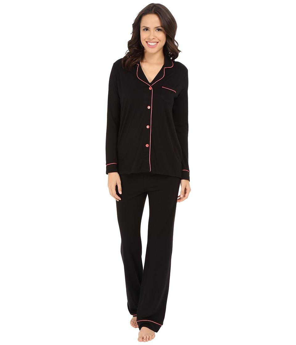 Cosabella - Bella PJ (Black/Geranium Pink) Women's Pajama Sets