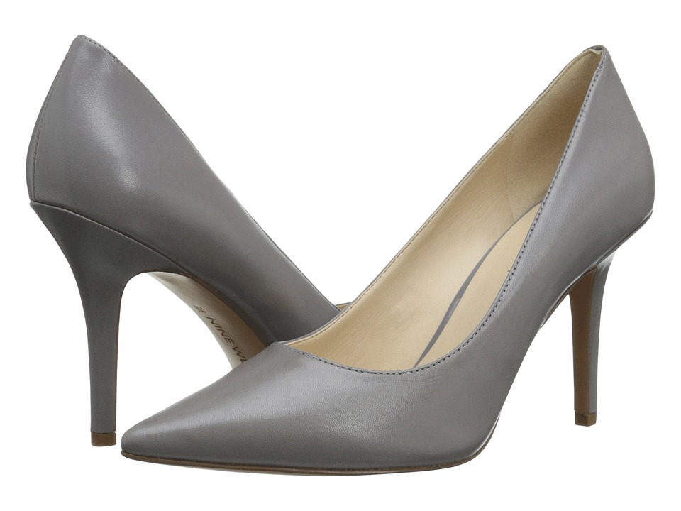 Nine West - Jackpot (Grey Leather) High Heels