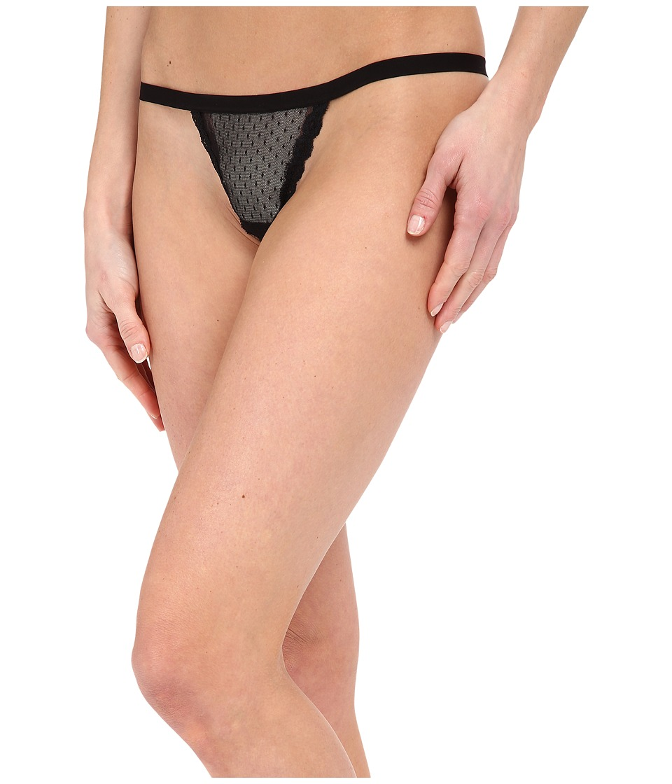 Cosabella - Bisou Swiss Dot G-String (Black) Women's Underwear