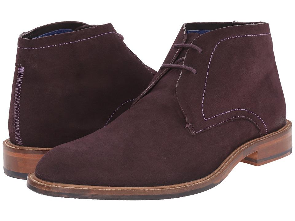 Ted Baker - Linnus (Dark Red Suede) Men's Shoes