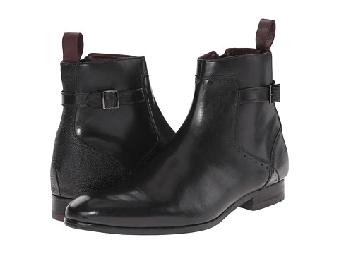 Ted Baker - Nayfer (Black Leather) Men's Zip Boots