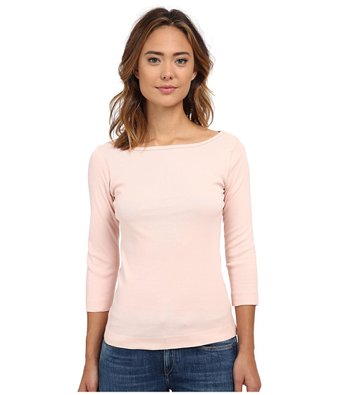 Three Dots - 3/4 Sleeve British Tee (Evening Sand) Women