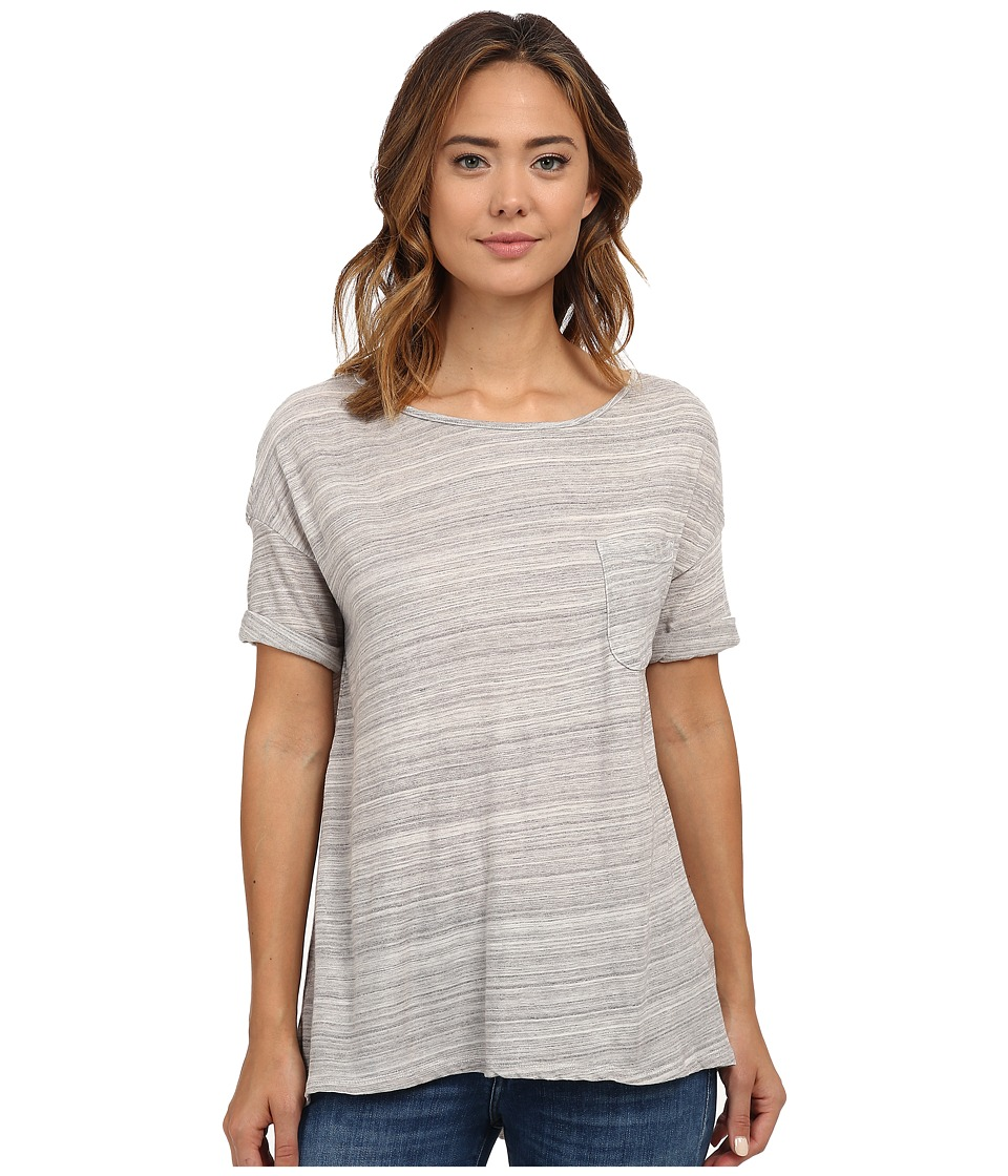 Three Dots - Scoop Neck Pocket Tee (Greystone) Women's T Shirt
