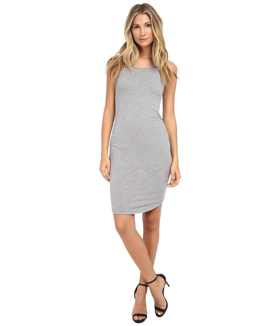 Three Dots - Sleeveless Shirred Dress (Granite) Women's Dress