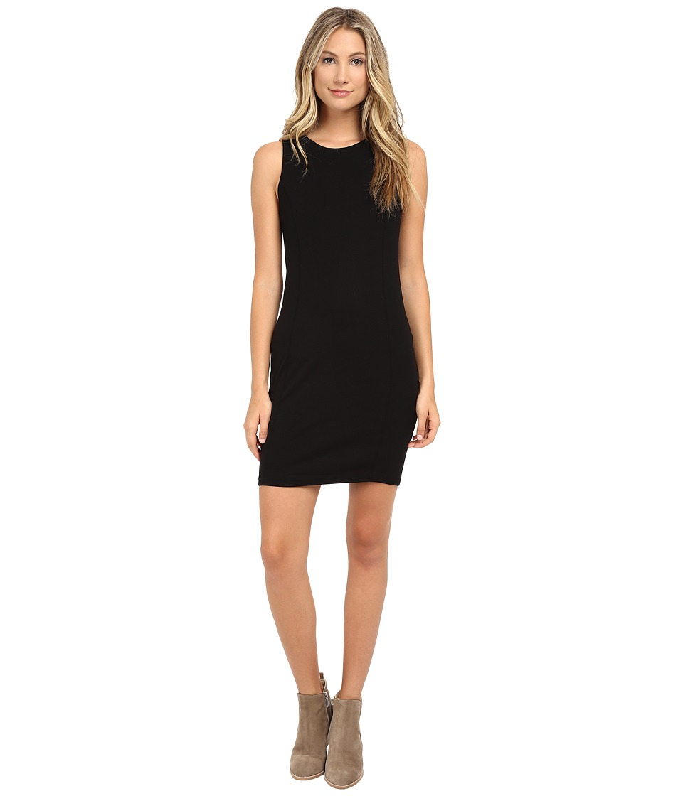 Three Dots Seamed Tank Dress (Black) Women