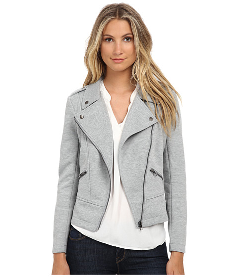 ONLY - Hit Biker Jacket (Light Grey Melange) Women's Coat