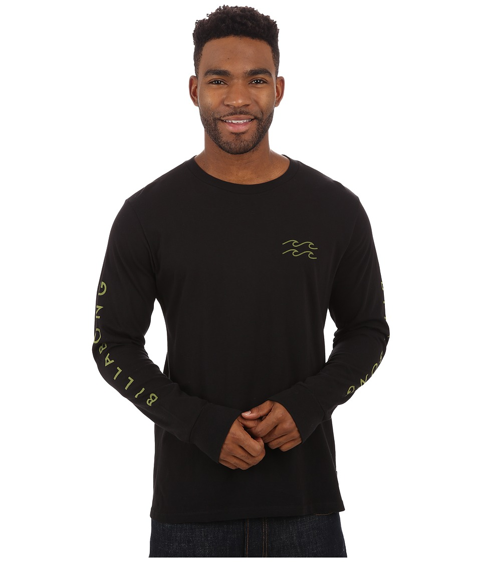 Billabong - Foster Long Sleeve T-Shirt (Black) Men's T Shirt