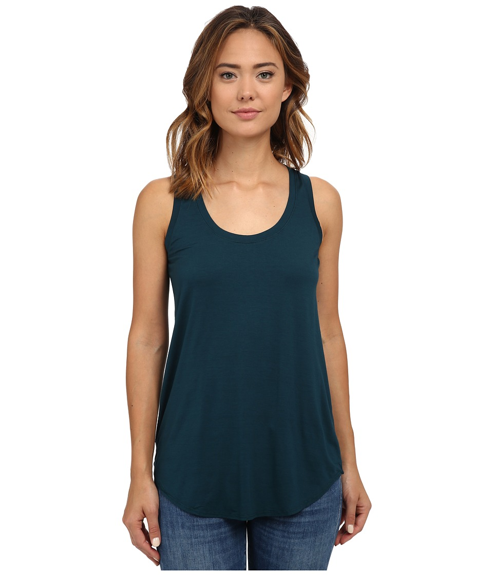 Three Dots - Lightweight Viscose Long Tank (Warm Teal) Women's Sleeveless