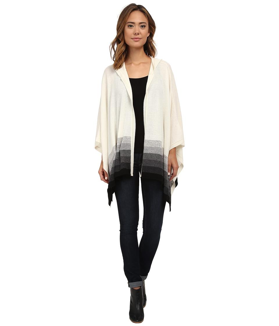 Three Dots - Hooded Poncho (Granite Combo) Women's Clothing