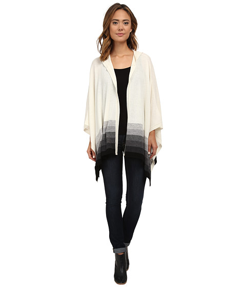 Three Dots - Hooded Poncho (Granite Combo) Women's Clothing