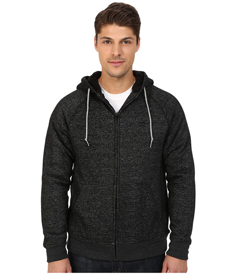 Billabong - Balance Sherpa Lined Zip (Black Heather) Men's Clothing