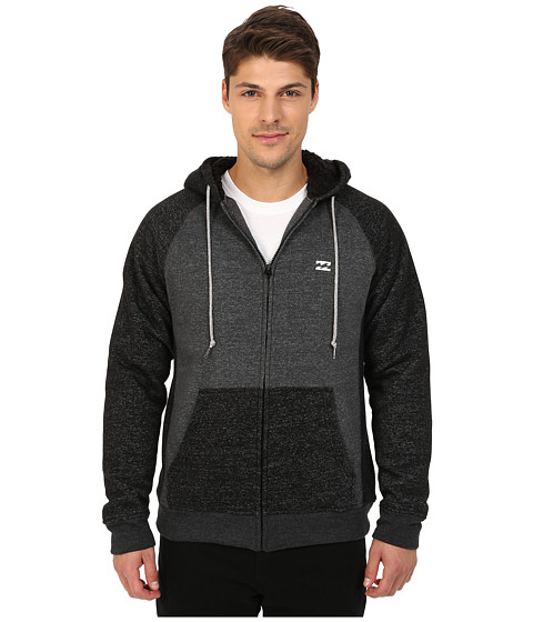 Billabong - Balance Sherpa Lined Zip (Dark Grey Heather) Men's Clothing