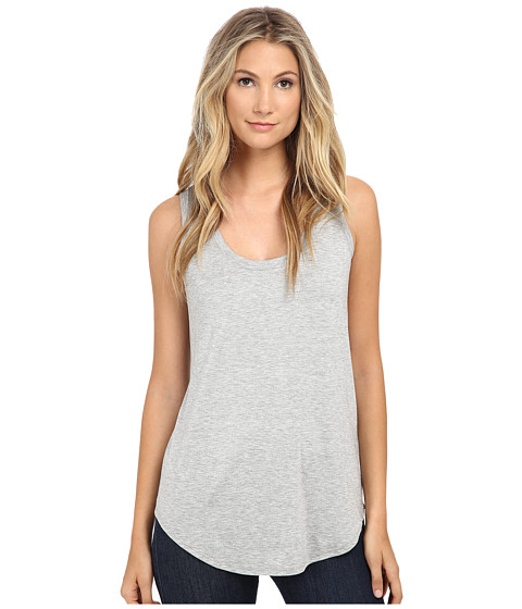Three Dots - Long Tank Top (Granite) Women's Sleeveless