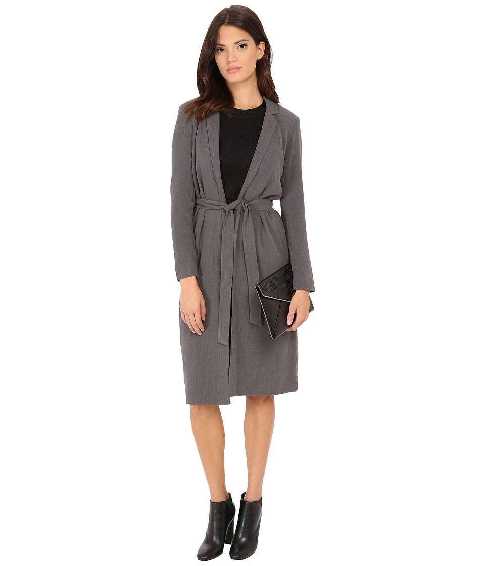 ONLY - Ella Long Wrap Jacket (Medium Grey Melange) Women's Coat