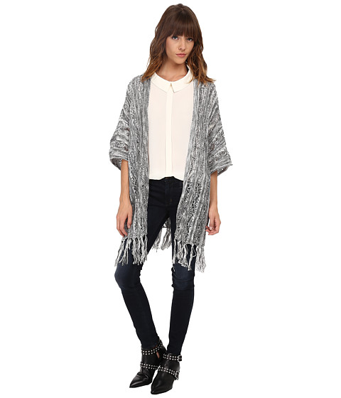 ONLY - Susan 3/4 Sleeve Knit Cardigan Poncho (Black) Women