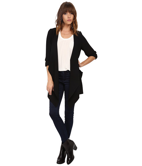 ONLY - Money Drapy Corn Cardigan (Black) Women's Sweater