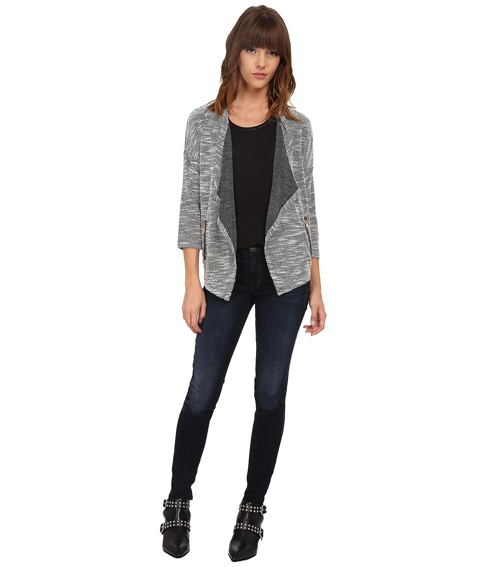 ONLY - Mille 3/4 Cardigan (Light Grey Melange) Women's Sweater