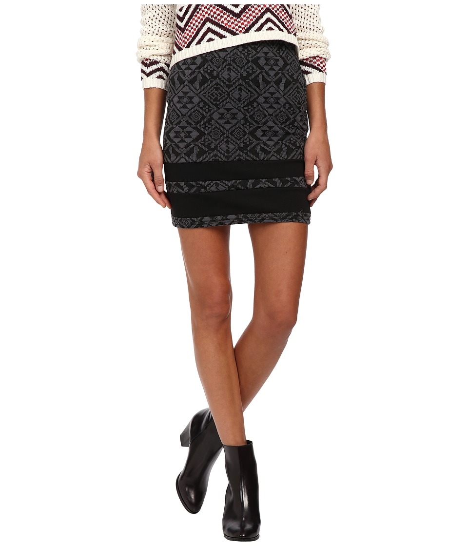 ONLY - Charlot Jacquard Skirt (Iron Gate/Black) Women's Skirt