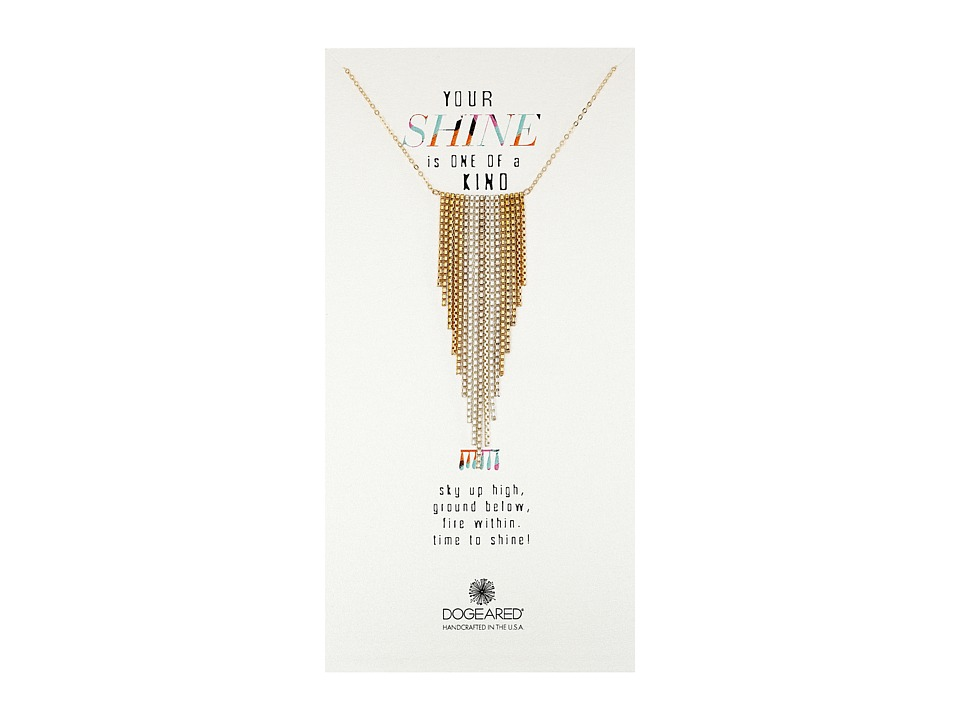 Dogeared - Your Shine Is One Of A Kind Large Fringe Chevron Necklace (Mixed Metals) Necklace