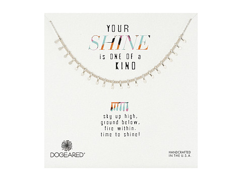 Dogeared - Your Shine Is One Of A Kind Petal Chain Necklace (Sterling Silver/Silver Dipped) Necklace
