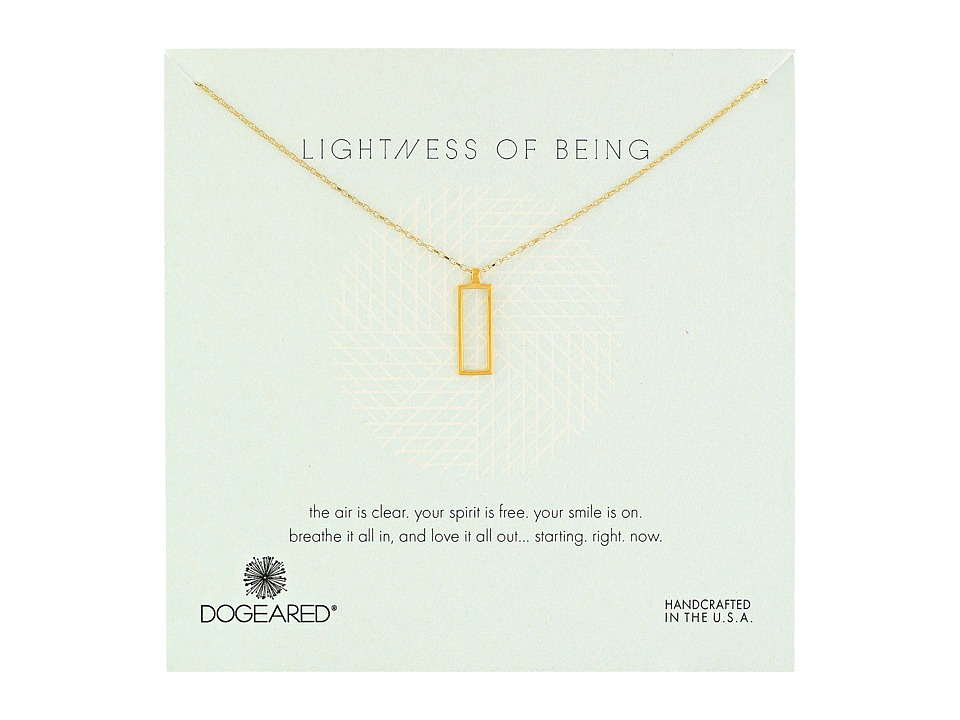 Dogeared - Lightness Of Being Air Rectangle Necklace (Gold Dipped) Necklace