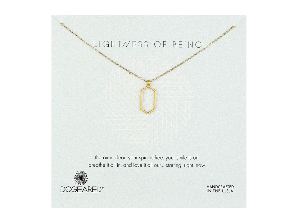 Dogeared - Lightness Of Being Air Hexagon Necklace (Gold Dipped) Necklace
