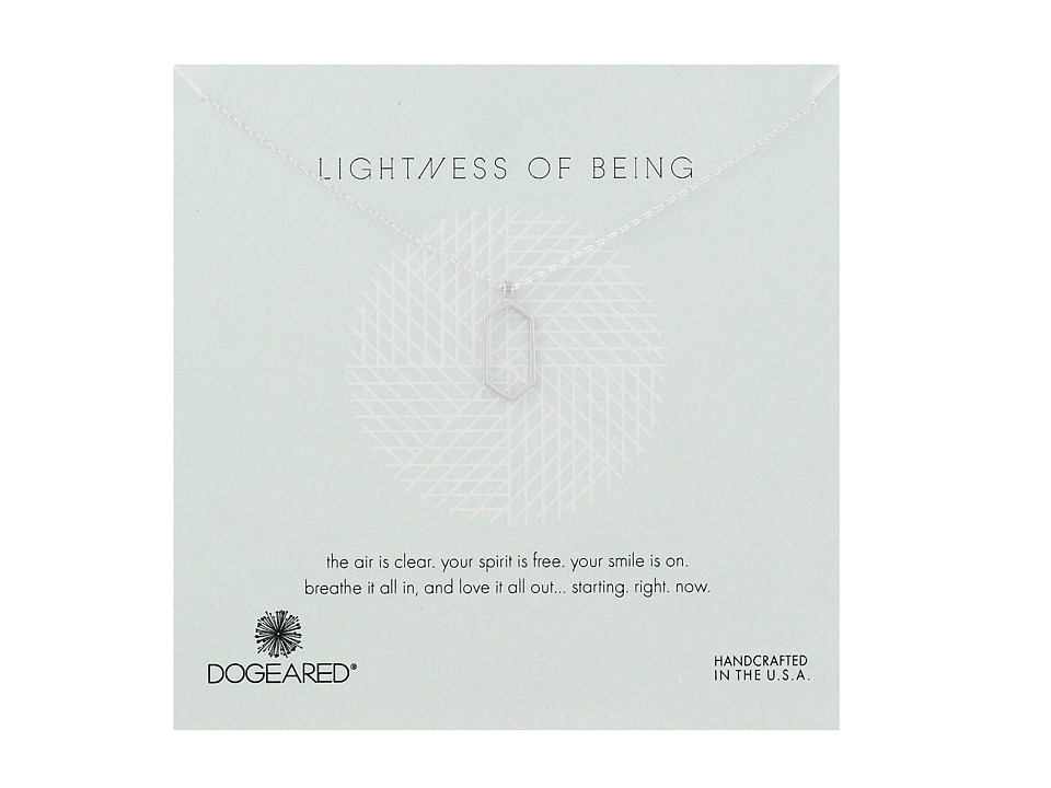 Dogeared - Lightness Of Being Air Hexagon Necklace (Sterling Silver) Necklace