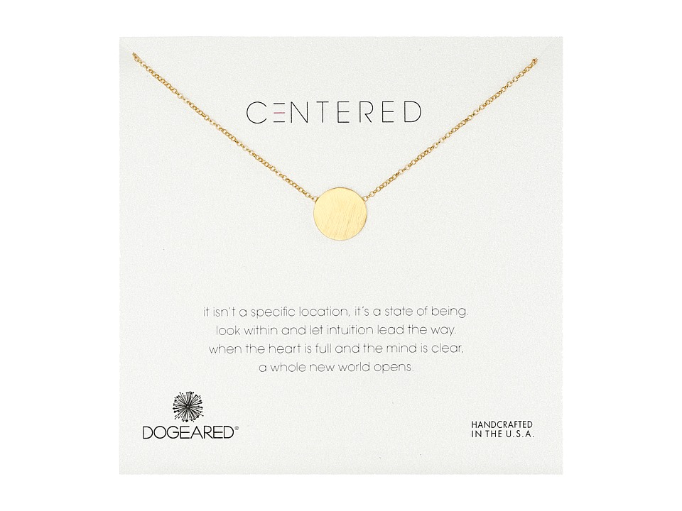 Dogeared - Centered Large Circle Soldered Necklace (Gold Dipped) Necklace