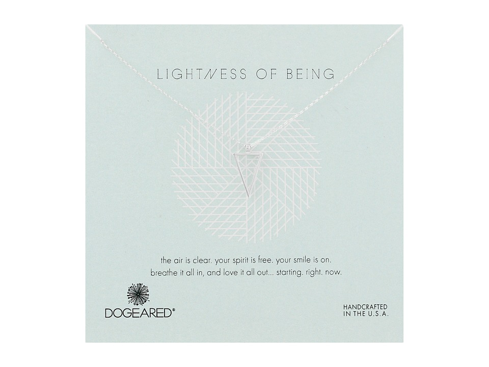 Dogeared - Lightness Of Being Air Triangle Necklace (Sterling Silver) Necklace
