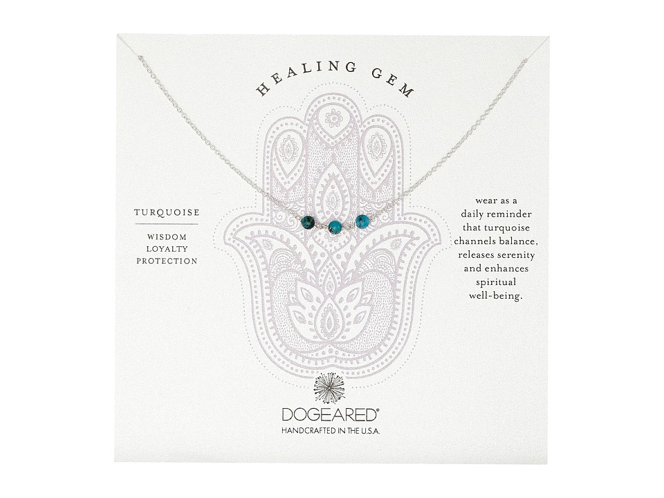 Dogeared - Triple Healing Gem Turquoise Necklace (Sterling Silver) Necklace