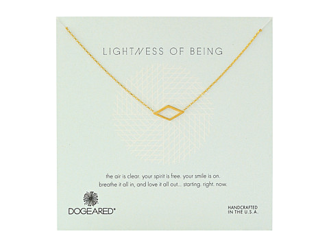 Dogeared - Lightness Of Being Air Diamond Soldered Necklace (Gold Dipped) Necklace