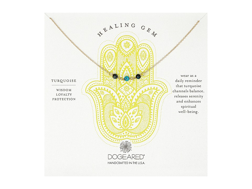 Dogeared - Triple Healing Gem Turquoise Necklace (Gold Filled) Necklace