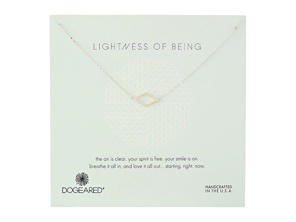 Dogeared - Lightness Of Being Air Diamond Soldered Necklace (Sterling Silver) Necklace