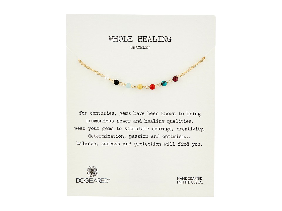 Dogeared - Whole Healing Multi Gem Bracelet (Gold Dipped) Bracelet
