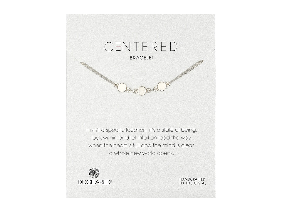 Dogeared - Centered Triple Linked Circle Bracelet (Sterling Silver/Silver Dipped) Bracelet