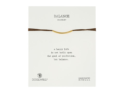Dogeared - Balance Bar Silk Bracelet Chocolate (Gold Dipped) Bracelet