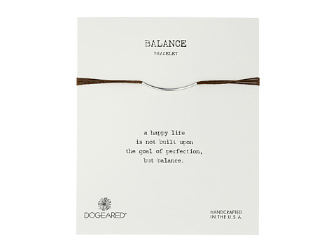 Dogeared - Balance Bar Silk Bracelet Chocolate (Sterling Silver) Bracelet