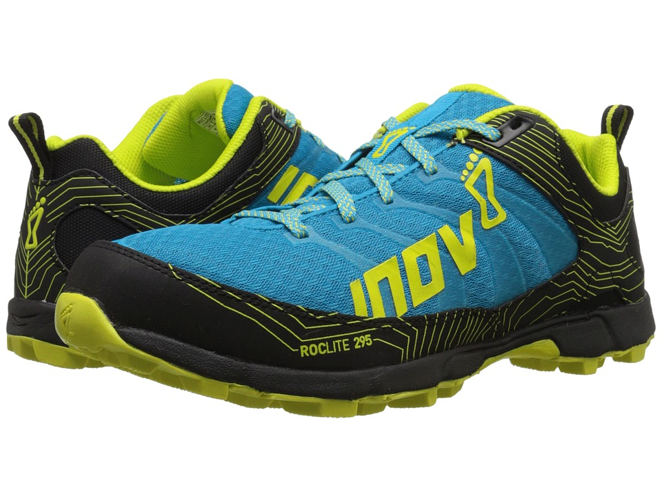 inov-8 - Roclite 295 (Blue/Black/Lime) Men's Running Shoes