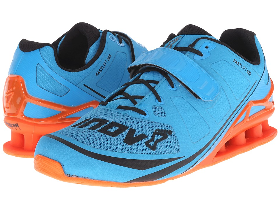 inov-8 - FastLift 325 (Blue/Grey/Orange) Men's Running Shoes
