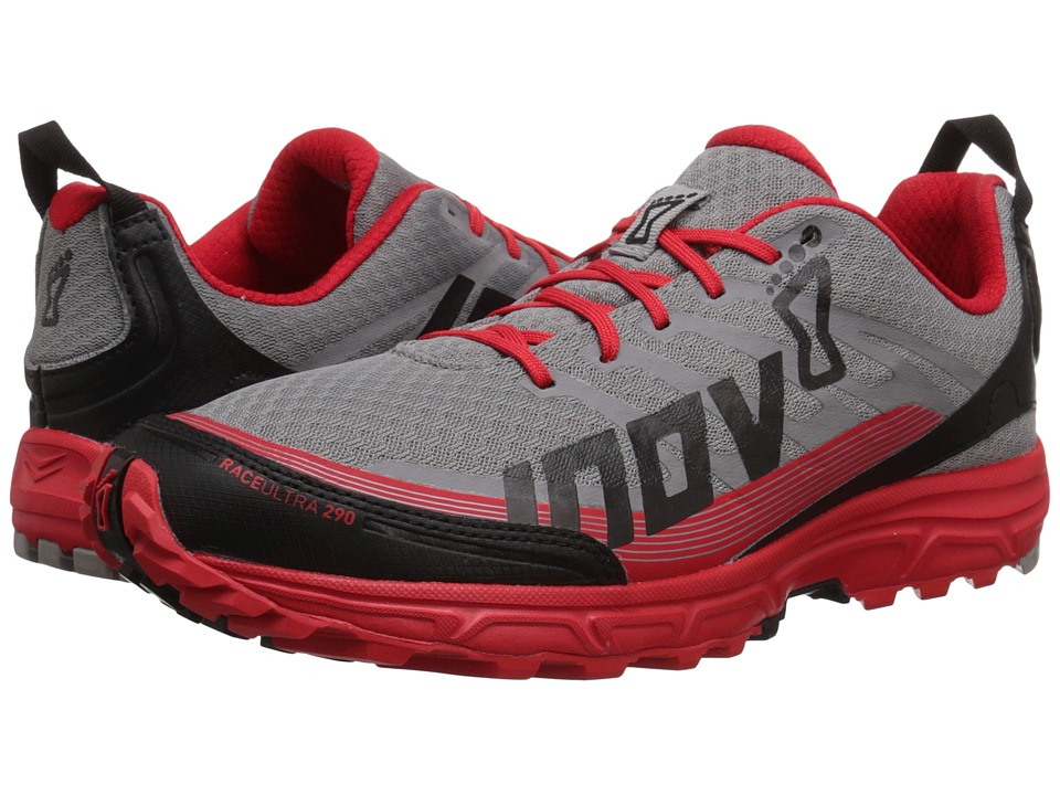 inov-8 - Race Ultra 290 (Grey/Red/Black) Men's Running Shoes
