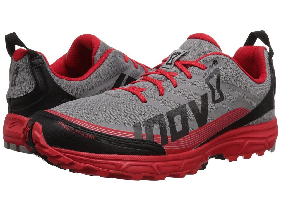 inov-8 - Race Ultra 290 (Grey/Red/Black) Men's Running Shoes