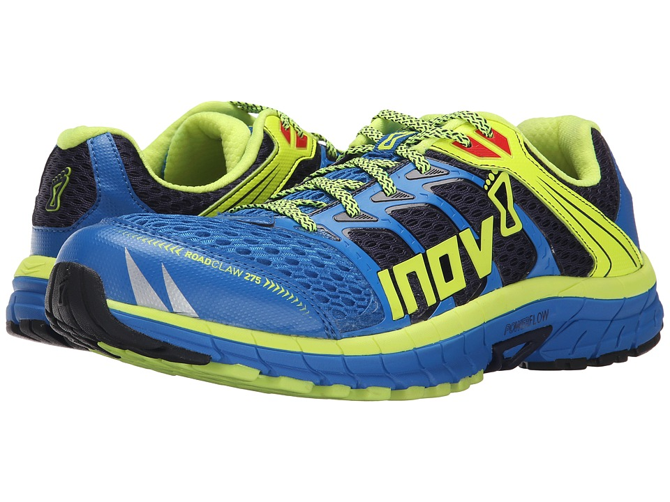 inov-8 - Road Claw 275 (Blue/Lime/Silver) Men's Running Shoes
